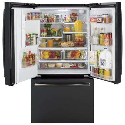 25.6 cu. ft. French-Door Refrigerator in Black Slate, Fingerprint Resistant and ENERGY STAR