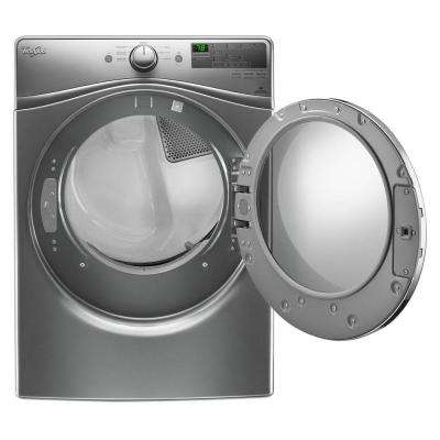 7.4 cu. ft. 120 Volt Stackable Chrome Shadow Gas Vented Dryer with Advanced Moisture Sensing