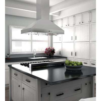 ZLINE 36 in. 760 CFM Island Mount Range Hood in Stainless Steel