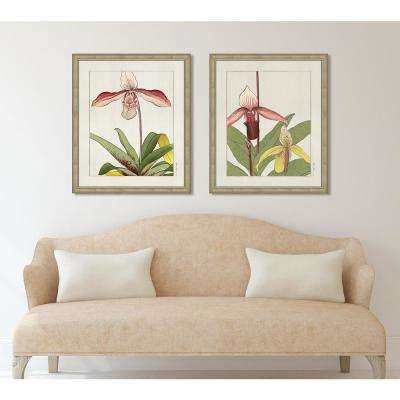 "23 in. x 27 in. ""Orchid II"" Framed Painting Print"