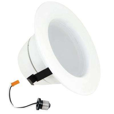 50W Equivalent Soft White 4 in. White R20 Trim Recessed Retrofit Downlight Dimmable LED Module (Case of 4)