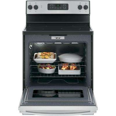 30 in. 5.3 cu. ft. Electric Range in Silver