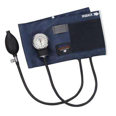 Precision Latex-Free Aneroid Sphygmomanometers with Blue Nylon Cuff for Adult