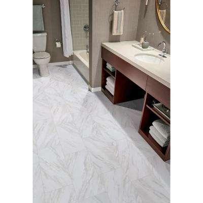 Kolasus White 12 in. x 24 in. Glazed Porcelain Floor and Wall Tile (16 sq. ft. /case)