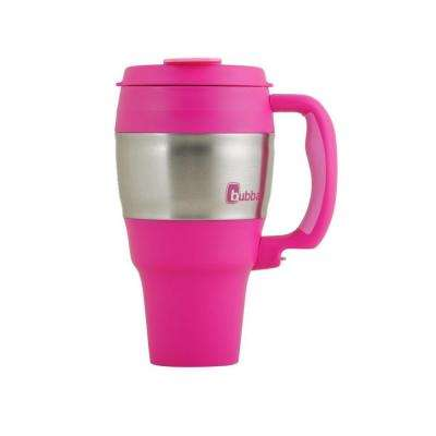 34 oz. (1.0 l) Insulated Double Walled BPA-Free Travel Mug with Stainless Steel Band