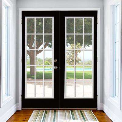Prehung 15 Lite Primed Steel Patio Door with No Brickmold