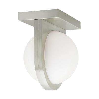 Capture 24-Watt Satin Nickel Integrated LED Flush Mount