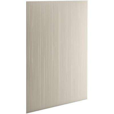 Choreograph 0.3125 in. x 32 in. x 96 in. 1-Piece Shower Wall Panel in Sandbar with Cord Texture for 96 in. Showers