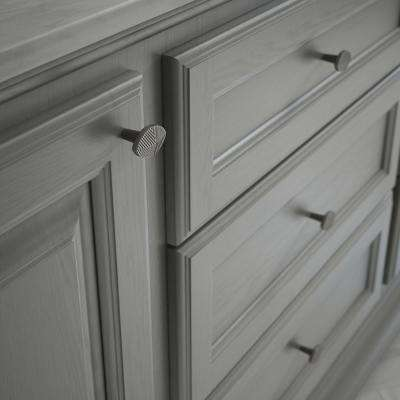 Modern Herringbone 1-3/8 in. (35 mm) Heirloom Silver Cabinet Knob