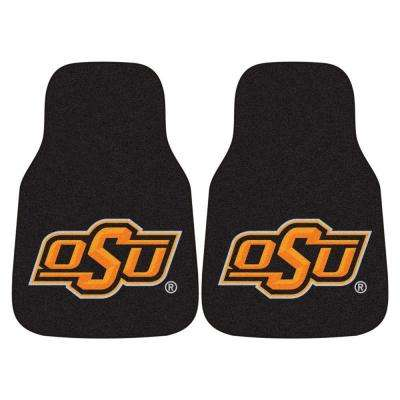 Oklahoma State University 18 in. x 27 in. 2-Piece Carpeted Car Mat Set