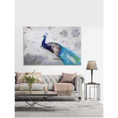 "20 in. H x 30 in. W ""Peacock Fable Cool"" by Christine Lindstrom Printed Canvas Wall Art"