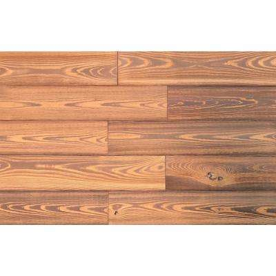 3D Grain Wood Smart Paneling 1/4 in. x 5 in. x 24 in. Gold Color Reclaimed Wood DIY Installation Wall Planks (12-Case)