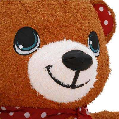 6.5 ft. Pre-lit Inflatable Hugging Teddy Bear-Fuzzy