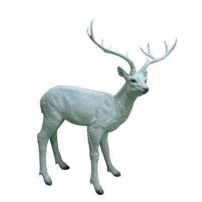31 in. White Deer Statue