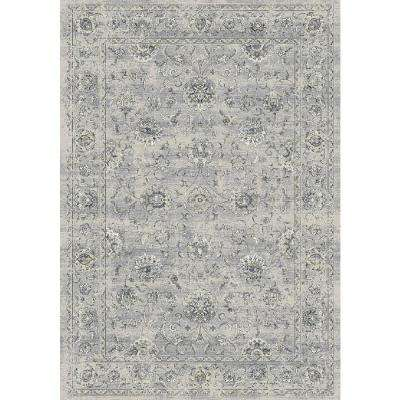 Ancient Garden Silver/Grey 6 ft. 7 in. x 9 ft. 6 in. Indoor Area Rug
