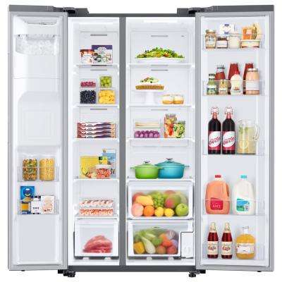 27.4 cu. ft. Side by Side Refrigerator in Fingerprint Resistant Stainless Steel