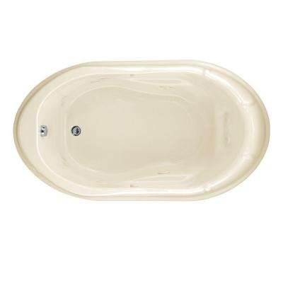 EverClean Reminiscence 5.5 ft. Whirlpool Tub in Linen