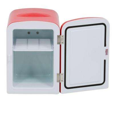 10.4 in. 6 (12 oz.) Mini Refrigerator in Red