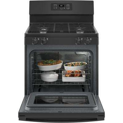 30 in. 4.8 cu. ft. Gas Range in Black