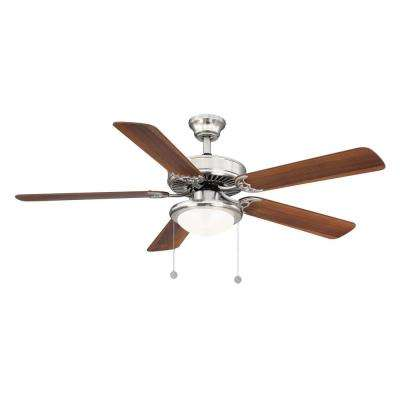 Trice 52 in LED Brushed Nickel Ceiling Fan