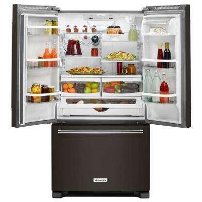 20 cu. ft. French Door Refrigerator in PrintShield Black Stainless, Counter Depth