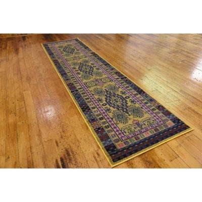 Medici Madrid Gold 2' 7 x 10' 0 Runner Rug