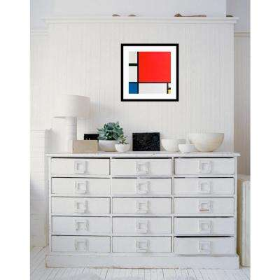 "21 in. W x 21 in. H ""Composition II in Red, Blue, and Yellow"" by Piet Mondrian Framed Art Print"