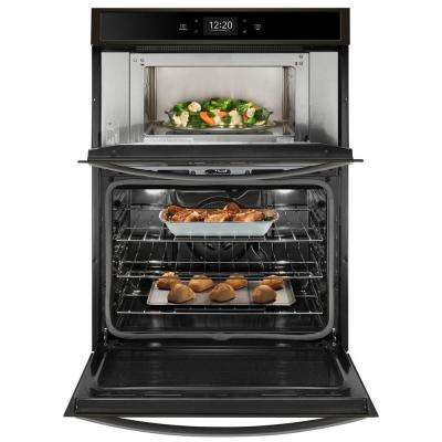 27 in. Electric Smart Combination Wall Oven with Touchscreen in Fingerprint Resistant Black Stainless