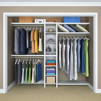 Impressions Narrow Deluxe Hutch 14.57 in. D x 16.97 in. W x 82.46 in. H Wood Closet System