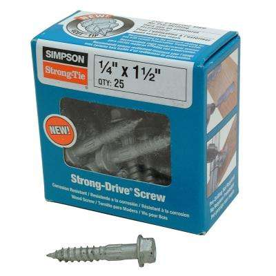 1-1/2 in. Strong-Drive SDS Structural Wood Screws (25-Pack)