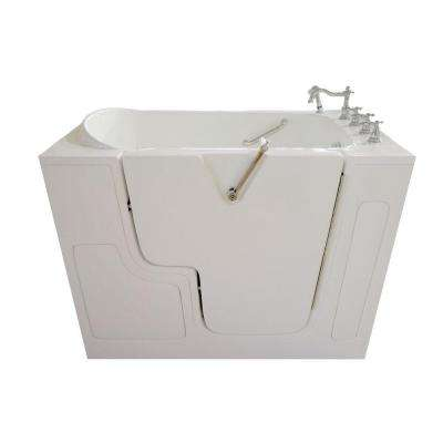 4.33 ft. Right Drain Wheelchair Accessible Walk-In Bathtub in White