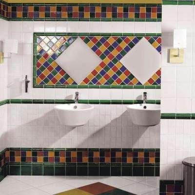 Novecento Bordura Verdin 1-5/8 in. x 5-1/8 in. Ceramic Wall Trim Tile
