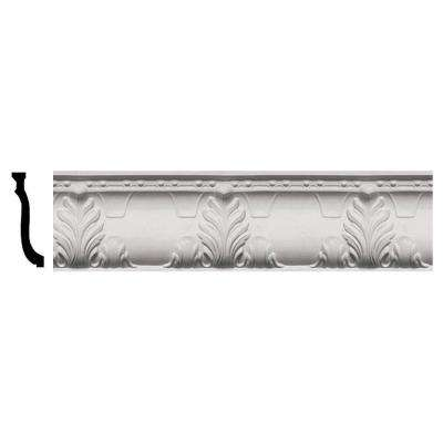 3-3/4 in. x 9-1/4 in. x 96 in. Polyurethane Alexandria Crown Moulding