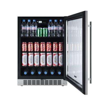 142-Can Seamless Stainless Steel Built-In Beverage Cooler