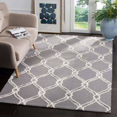 Manchester Dark Gray/Ivory 8 ft. x 10 ft. Area Rug