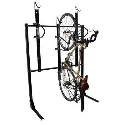 3-Bike Vertical Locking Bike Rack