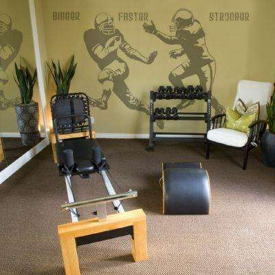 88 in. x 68 in. Action Football 2-Piece Wall Decal
