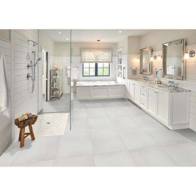 White 24 in. x 24 in. Polished Porcelain Floor and Wall Tile (16 sq. ft. / case)
