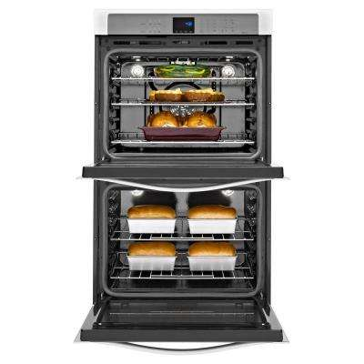 Gold 30 in. Double Electric Wall Oven Self-Cleaning with Convection in Stainless Steel