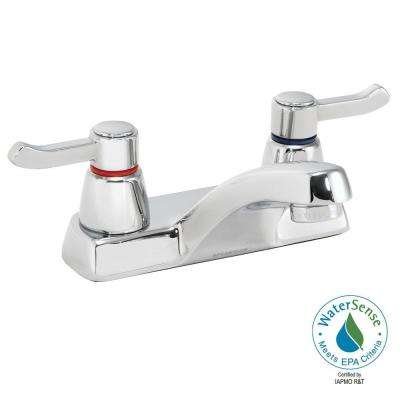 Commander 4 in. Centerset 2-Handle Bathroom Faucet in Polished Chrome