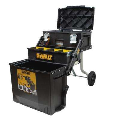 16 in. 4-in-1 Cantilever Tool Box Mobile Work Center with Removable Tray