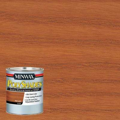 1 qt. PolyShades Pecan Gloss Stain and Polyurethane (4-Pack)