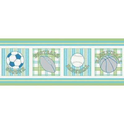 10.25 in. x 15 ft. Blue and Green Vintage Varsity Border