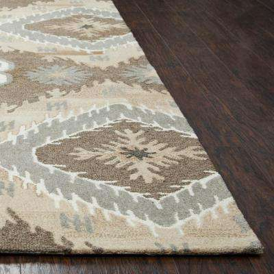 Suffolk Brown Ikat 5 ft. x 8 ft. Area Rug