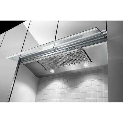 36 in. Convertible Slide-Out Range Hood in Stainless Steel
