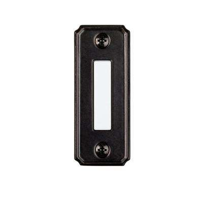 Wired Lighted Door Bell Push Button, Black