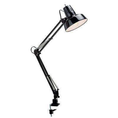 Roland 34 in. Black and Steel Desk Lamp