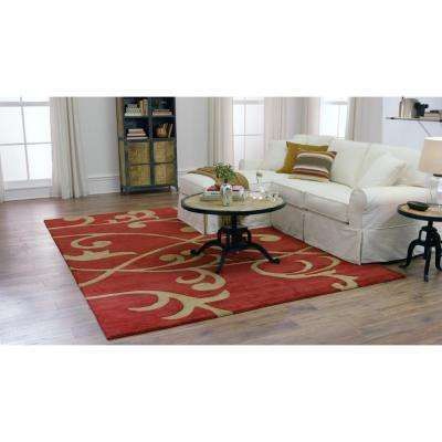 Perpetual Red 8 ft. x 11 ft. Area Rug