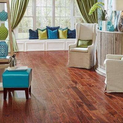 Hand Scraped Hickory Tuscany 1/2 in. T x 4-3/4 in. W x Varying Length Engineered Hardwood Flooring (24.94 sq.ft./case)