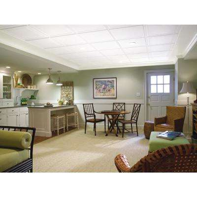 Single Raised Panel 2 ft. x 2 ft. Tegular Ceiling Panel (24 sq. ft. / case)